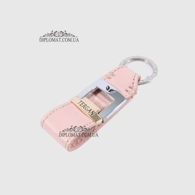 Брелок кожаный для ключей TERGAN 0242 NUDE ARSEL Пудра