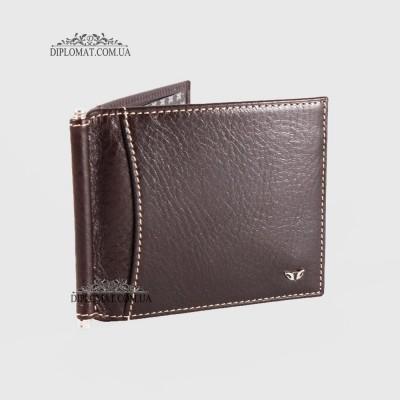 Зажим для денег TERGAN 1399 Кожаный 6 отделений для карт Без отделения для мелочи KAHVE VEGETAL Темно Коричневый