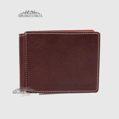 Зажим для денег TERGAN 1507  из натуральной кожи22TABA VEGETAL Коричневый